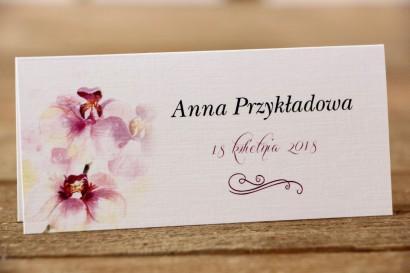 Winietki na stół weselny - Malowane Kwiaty nr 2 - Orchidee - dodatki ślubne