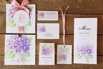 Zestaw próbkowy papeterii ślubnej - Malowane Kwiaty nr 3