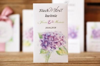 Podziękowania dla Gości - Nasiona Niezapominajki - Malowane Kwiaty nr 3 - dodatki ślubne