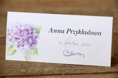 Winietki na stół weselny - Malowane Kwiaty nr 3 - Hortensja - dodatki ślubne, akcesoria weselne