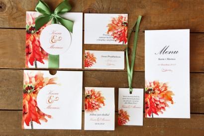 Zaproszenia ślubne z dodatkami - Malowane Kwiaty nr 5 - Papeteria ślubna