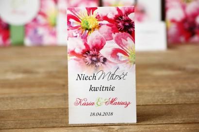 Podziękowania dla Gości weselnych - Nasiona Niezapominajki - Malowane Kwiaty nr 7 - Moc kwiatów - dodatki ślubne