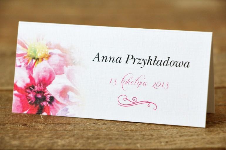 Winietki na stół weselny, ślub - Malowane Kwiaty nr 7 - Moc kwiatów - dodatki ślubne