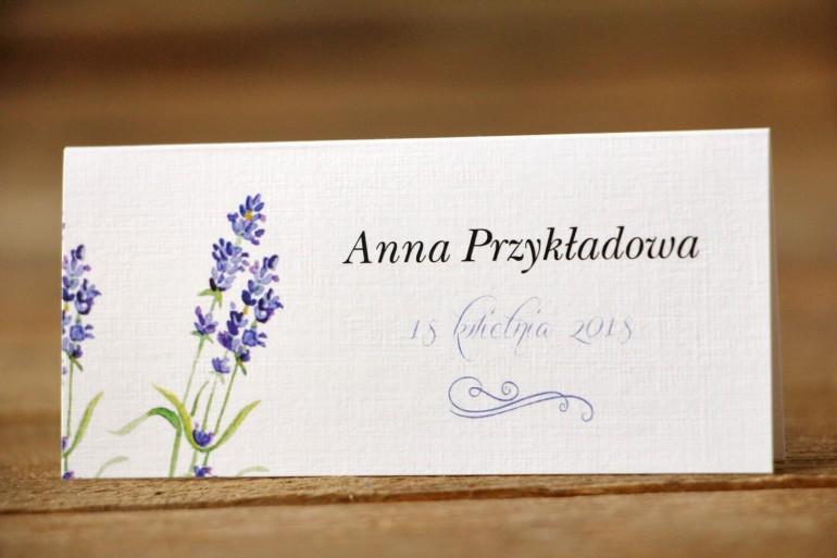 Winietki na stół weselny, ślub - Malowane Kwiaty nr 8 - Lawenda - dodatki ślubne
