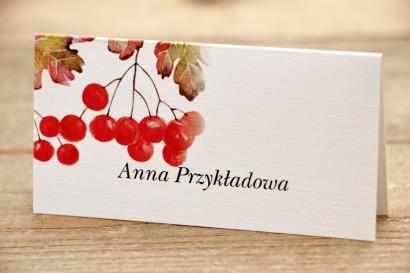 Winietki na stół weselny, ślub - Malowane Kwiaty nr 16 - Jarzębina - dodatki ślubne