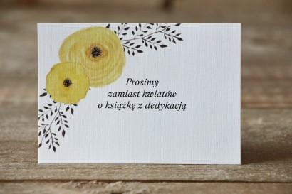Bilecik do zaproszenia - Malowane Kwiaty nr 18 - żółte jaskry
