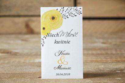 Podziękowania dla Gości weselnych - nasiona Niezapominajki - Malowane Kwiaty nr 18 - Żółte jaskry