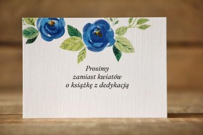 Bilecik do zaproszenia 105x74 mm - Malowane Kwiaty nr 23 - Chabrowe - wierszyki o prezentach