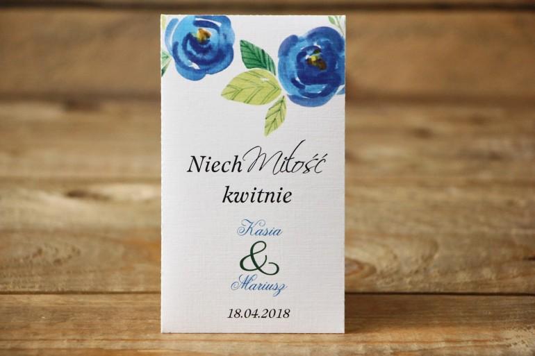 Podziękowania dla Gości - Nasiona Niezapominajki - Malowane Kwiaty nr 23 - Chabrowe - dodatki ślubne