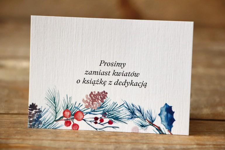 Bilecik do zaproszenia 105x74 mm - Malowane Kwiaty nr 24 - Zimowe- wierszyki o prezentach