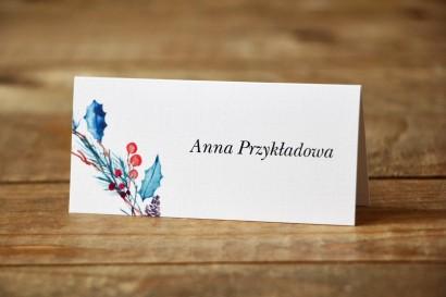 Winietki na stół weselny - Malowane Kwiaty nr 24 - Zimowe - dodatki ślubne