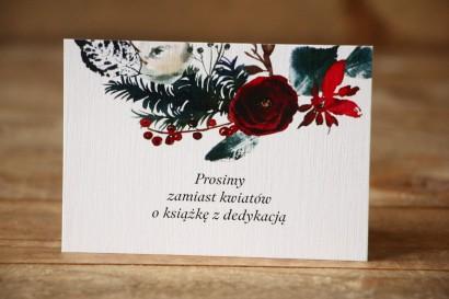 Bilecik do zaproszenia ślubnego Malowane Kwiaty nr 27 - Zimowa kompozycja - wierszyki o prezentach