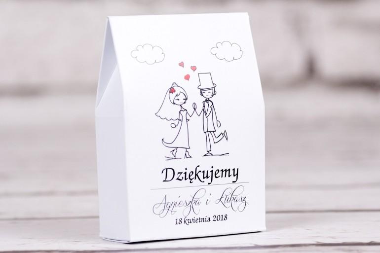 Ślubne pudełeczko na słodkości dla Gości weselnych Bueno nr 2