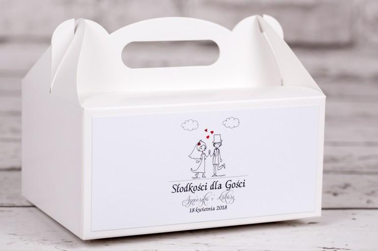 Pudełko prostokątne na ciasto weselne z kolekcji Bueno nr 2