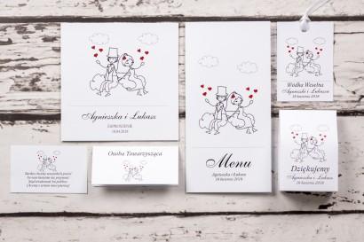 Zestaw próbkowy zaproszenia ślubnego z kolekcji Bueno nr 3
