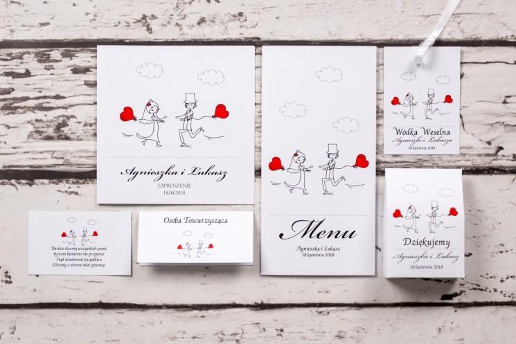 białe zaproszenia ślubne