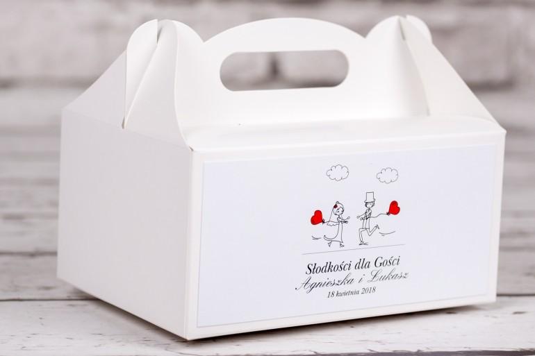 Pudełko prostokątne na ciasto weselne z kolekcji Bueno nr 5
