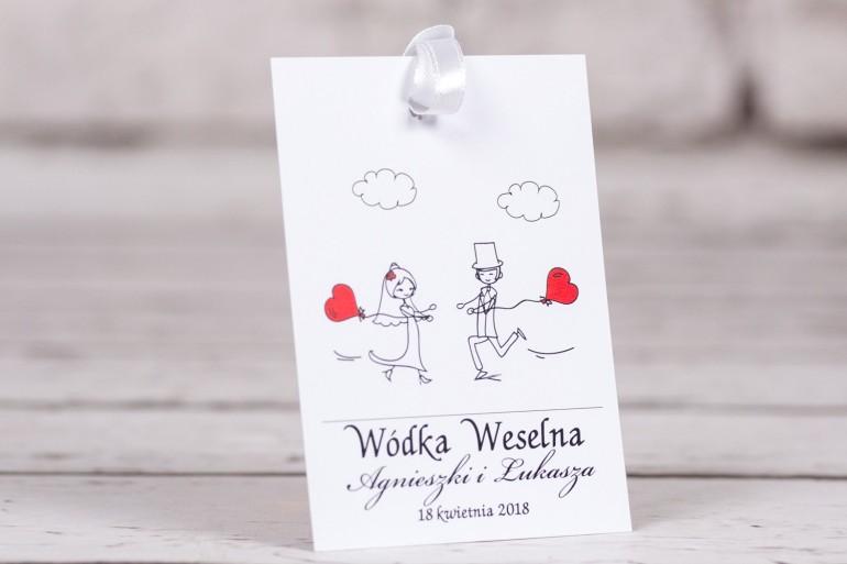 Zawieszki na butelki weselne, ślubne z kolekcji Bueno nr 5
