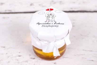 Miody to słodkie upominki dla gości weselnych z kolekcji Bueno nr 6