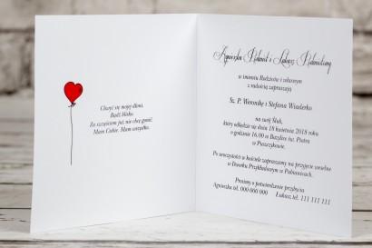 Wnętrze zaproszenia ślubnego z kolekcji Bueno nr 7