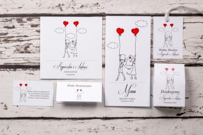 Zestaw próbkowy zaproszeń ślubnych z kolekcji Bueno nr 7