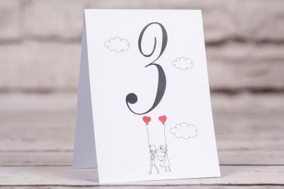 Ślubne numery stolików (weselne) z kolekcji Bueno nr 7