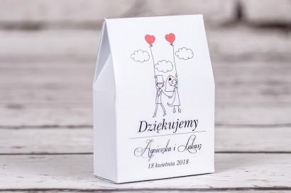 Ślubne pudełeczko na słodkości dla gości weselnych z kolekcji Bueno nr 7