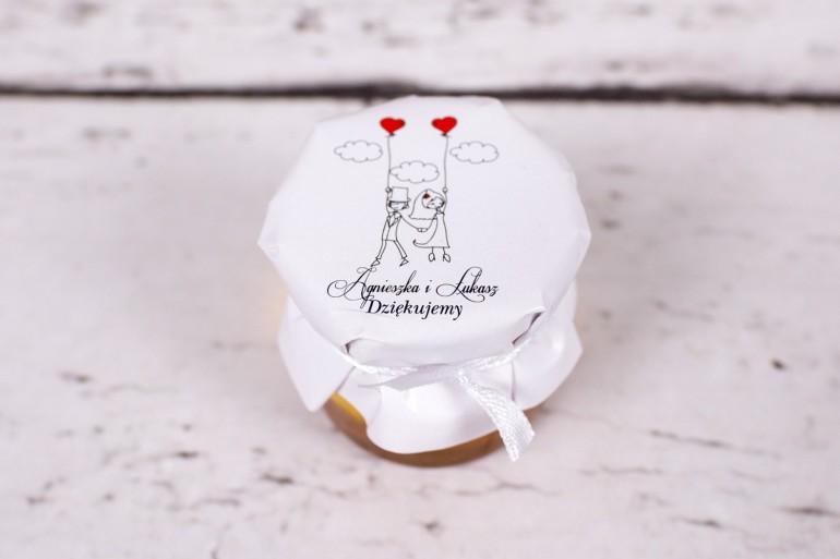 Miody to słodkie upominki dla gości ślubnych, weselnych z kolekcji Bueno nr 7