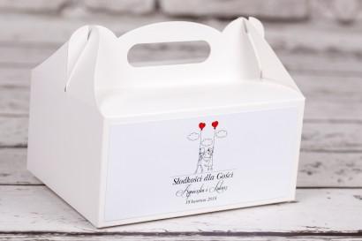 Pudełko prostokątne na ciasto weselne z kolekcji Bueno nr 7