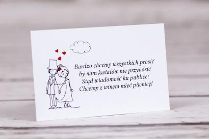 Bilecik do zaproszeń ślubnych z kolekcji Bueno nr 9