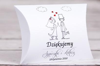 Pudełeczko poduszeczka na słodkości na gości weselnych z kolekcji Bueno nr 2