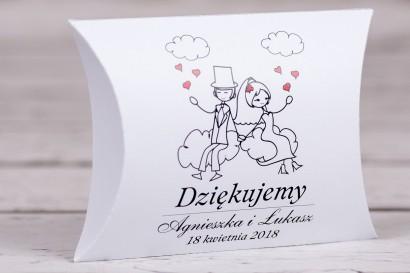 Pudełeczko poduszeczka - słodkie podziękowania dla gości weselnych, ślubnych z kolekcji Bueno nr 3