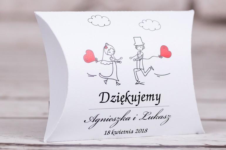 Pudełeczko poduszeczka - słodkie podziękowania dla gości weselnych, ślubnych z kolekcji Bueno nr 5