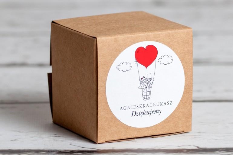 Eko pudełeczko ślubne na słodkości dla gości weselnych z kolekcji Bueno nr 1