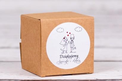 Eko pudełeczko ślubne na słodkości dla gości weselnych z kolekcji Bueno nr 2