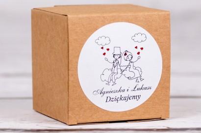 Eko pudełeczko ślubne na słodkości dla gości weselnych z kolekcji Bueno nr 3
