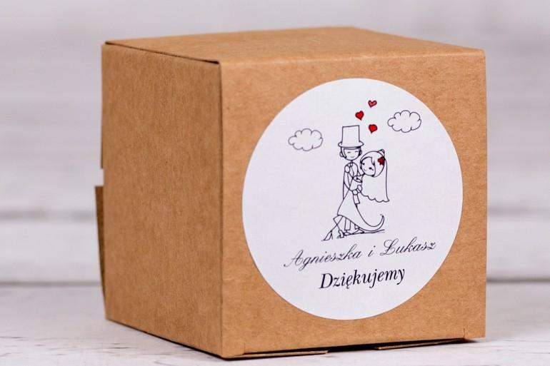 Eko pudełeczko ślubne na słodkości dla gości weselnych z kolekcji Bueno nr 4