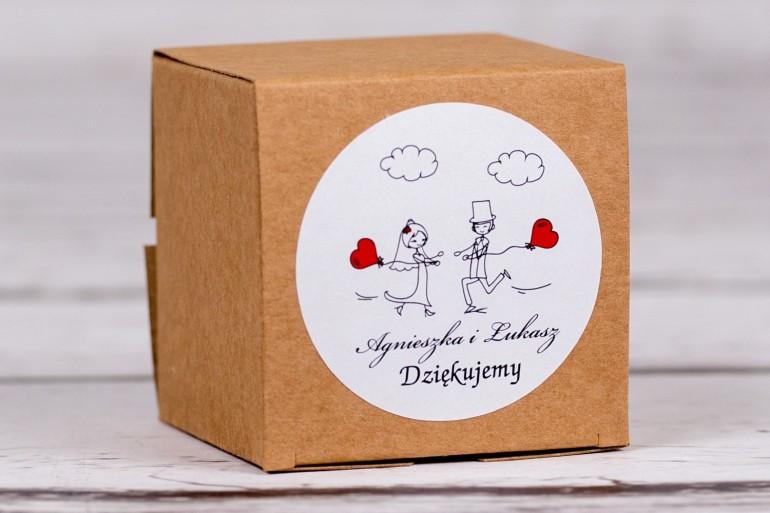 Eko pudełeczko ślubne na słodkości dla gości weselnych z kolekcji Bueno nr 5
