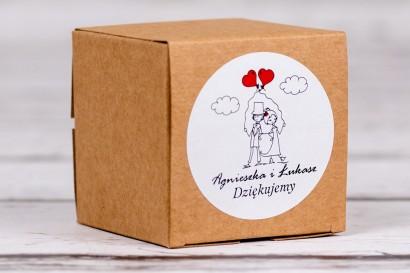 Eko pudełeczko ślubne na słodkości dla gości weselnych z kolekcji Bueno nr 6