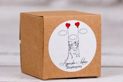 Eko pudełeczko ślubne na słodkości dla gości weselnych z kolekcji Bueno nr 7