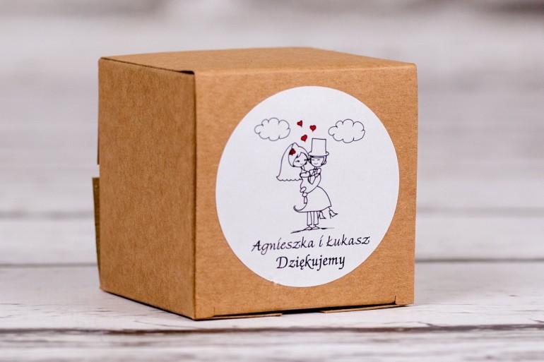 Eko pudełeczko ślubne na słodkości dla gości weselnych z kolekcji Bueno nr 8