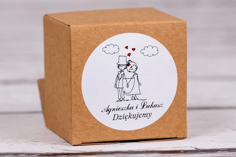 Eko pudełeczko ślubne na słodkości dla gości weselnych z kolekcji Bueno nr 9