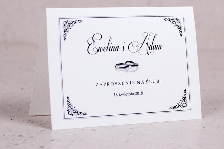 Klasyczne Zaproszenia ślubne Arte Nr 1 Klaysczne Zaproszenia