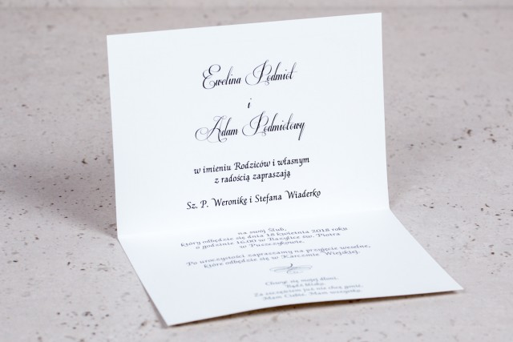 Wnętrze zaproszenia ślubnego Arte nr 3 - klasyczne zaproszenia ślubne