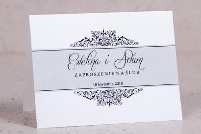Zaproszenia ślubne Arte nr 5 - Klasyczny wzór z eleganckim zdobieniem