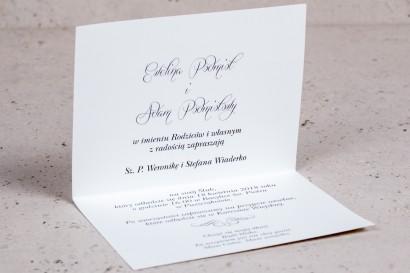 Wnętrze zaproszenia ślubnego Arte nr 5 - Klasyczny wzór z eleganckim zdobieniem