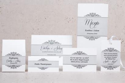 Zestaw próbny zaproszeń ślubnych Arte nr 3 - Klasyczny wzór z eleganckim zdobieniem