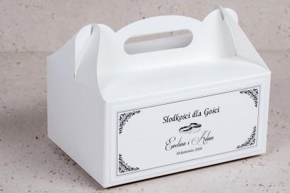Pudełko na Ciasto weselne, ślubne prostokątne Arte nr 3