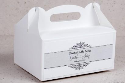Pudełko na Ciasto weselne, ślubne prostokątne Arte nr 5