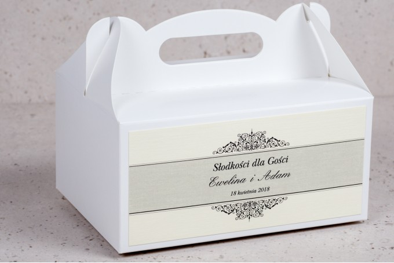 Pudełko na Ciasto weselne, ślubne prostokątne Arte nr 6